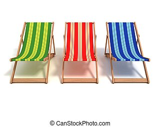 beach chair 3d illustration