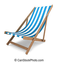 Beach chair. 3d illustration on white background