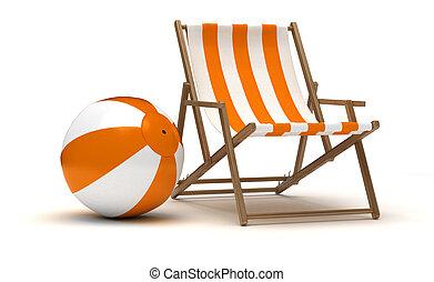 Beach Chair and Beach Ball