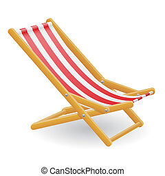 beach chair illustration isolated on white background