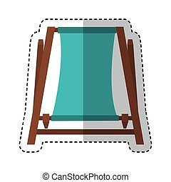 beach chair isolated icon