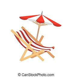 beach chair isolated icon