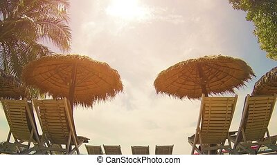 Beach Chairs at a Tropical Resort in Sihanoukville