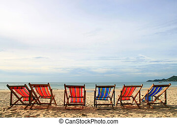 beach chairs - Beach Chair at Samui Island in Thailand