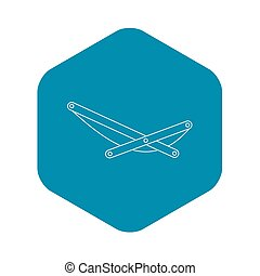 Beach chaise icon, outline style