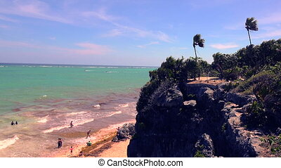 Beach Cliff Overlook Windy Palms - A windy day in the hot...