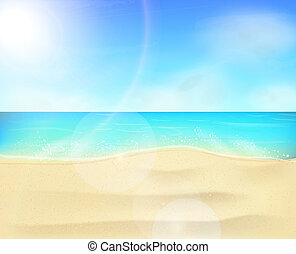 Beach coastline landscape - Beach landscape scene with sand...