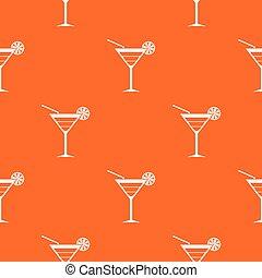 Beach cocktail pattern seamless