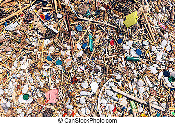 Beach completely polluted