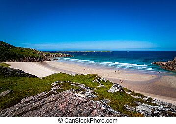 Beach cove in Scotland