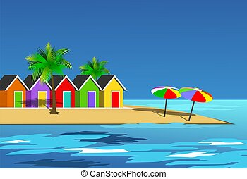 Beach - An illustration scenic beach landscape