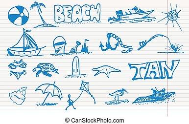 Beach elements.