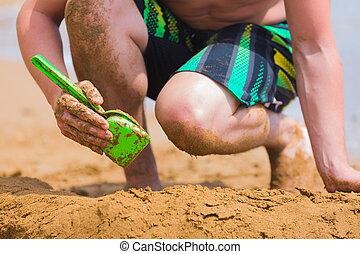 Beach fun in the sand