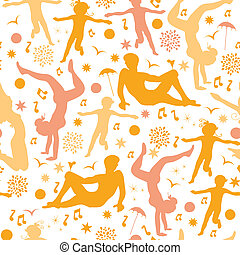 Beach fun seamless pattern background