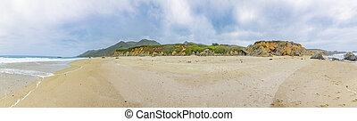 beach Garrapata at Highway No 1 in Carmel, California