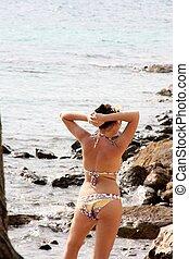 beach girl in bikini
