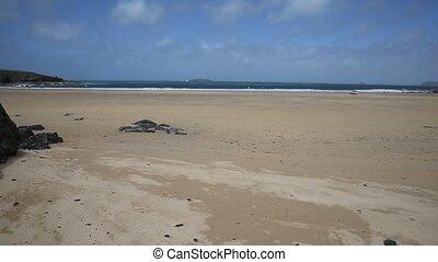 Beach Harlyn Bay Cornwall England - Harlyn Bay North...