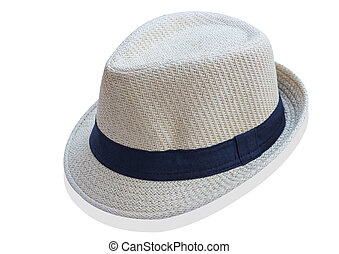 Beach hat isolated on white background