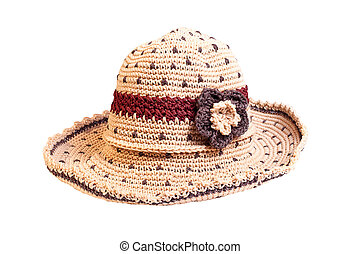 beach hat isolated on white.