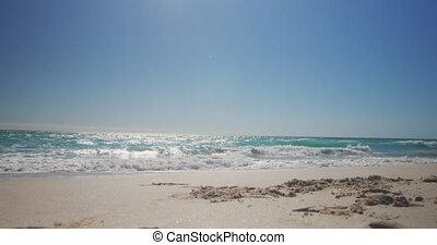 Beach holiday destination - Blue sky and calm sea on a sunny...