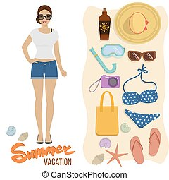 Beach holiday, summer vacation