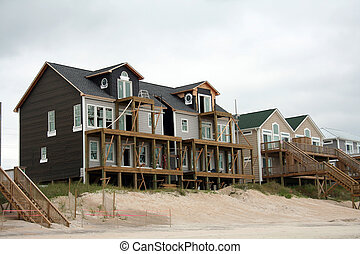 Beach home reconstruction after hurricane damage