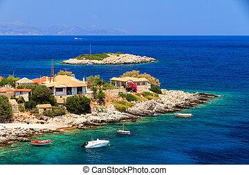 Beach house - Idyllic little town at the sea on the island...