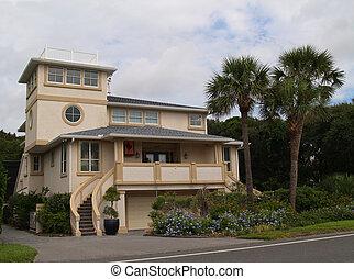 Beach house in Florida - Three story beach house found in...