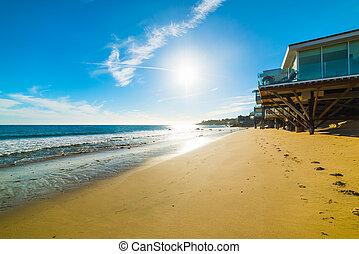Beach house in Malibu, California