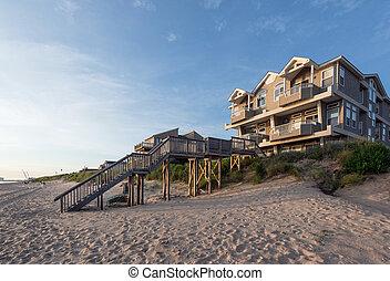 Beach House on the Chesapeake Bay - A beach house located on...