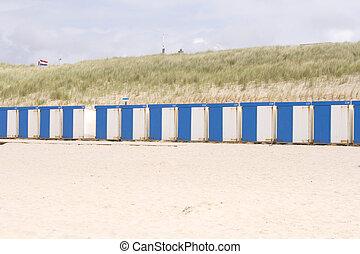 Beach houses in a row