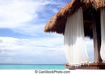 Beach Hut - Massage hut on Cancun beach Mexico