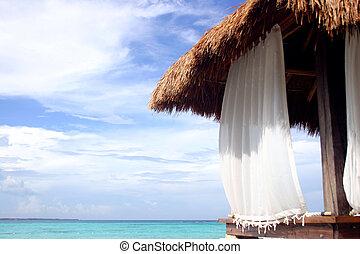 Beach Hut - Massage hut on Cancun beach Mexico