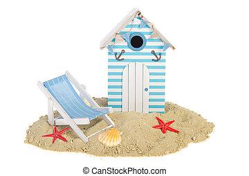 Beach hut with chair