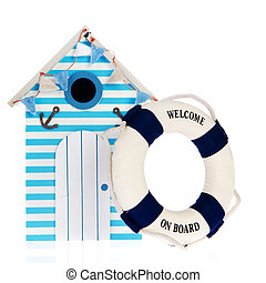 Beach hut with live buoy - Summer beach hut with live bouy ...