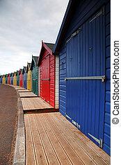 Traditional English holiday huts