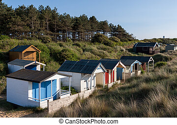 Beach huts at Hunstanton Norfolk