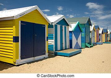 Beach Huts on Brighton Beach, Melbourne, Victoria, Australia