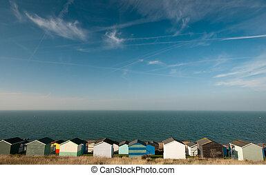 Beach huts , Whitstable