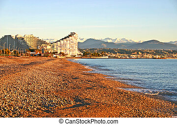 Beach in Antibes, France