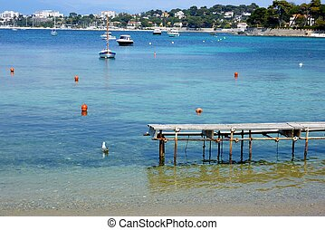 Beach in Antibes