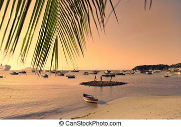 Rio de Janeiro - Beach in Buzios, Rio de Janeiro state,...
