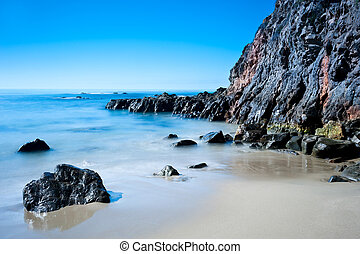 Beach in California - A peaceful image of shoreline scenery...