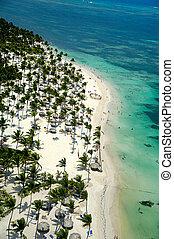 Beach in caribbean paradise