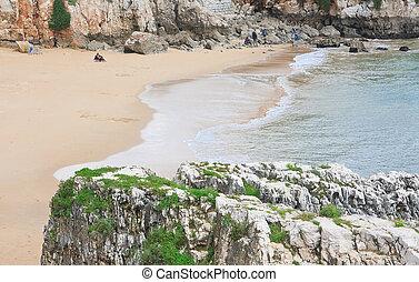 Beach in Cascais. Portugal