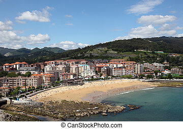 Beach in Castro Urdiales, Cantabria, Spain