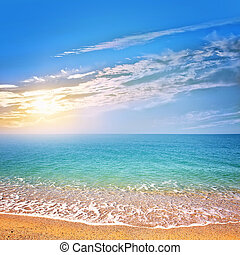 beach in Crimea, sea coast in Crimea