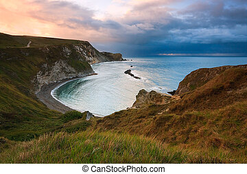 Beach in Dorset, UK.