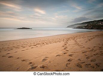 Beach in Galicia, Spain.