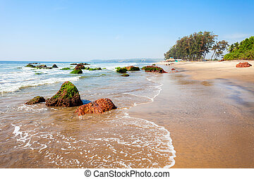 Beach in Goa, India - Keri or Kerim or Querim beach in north...